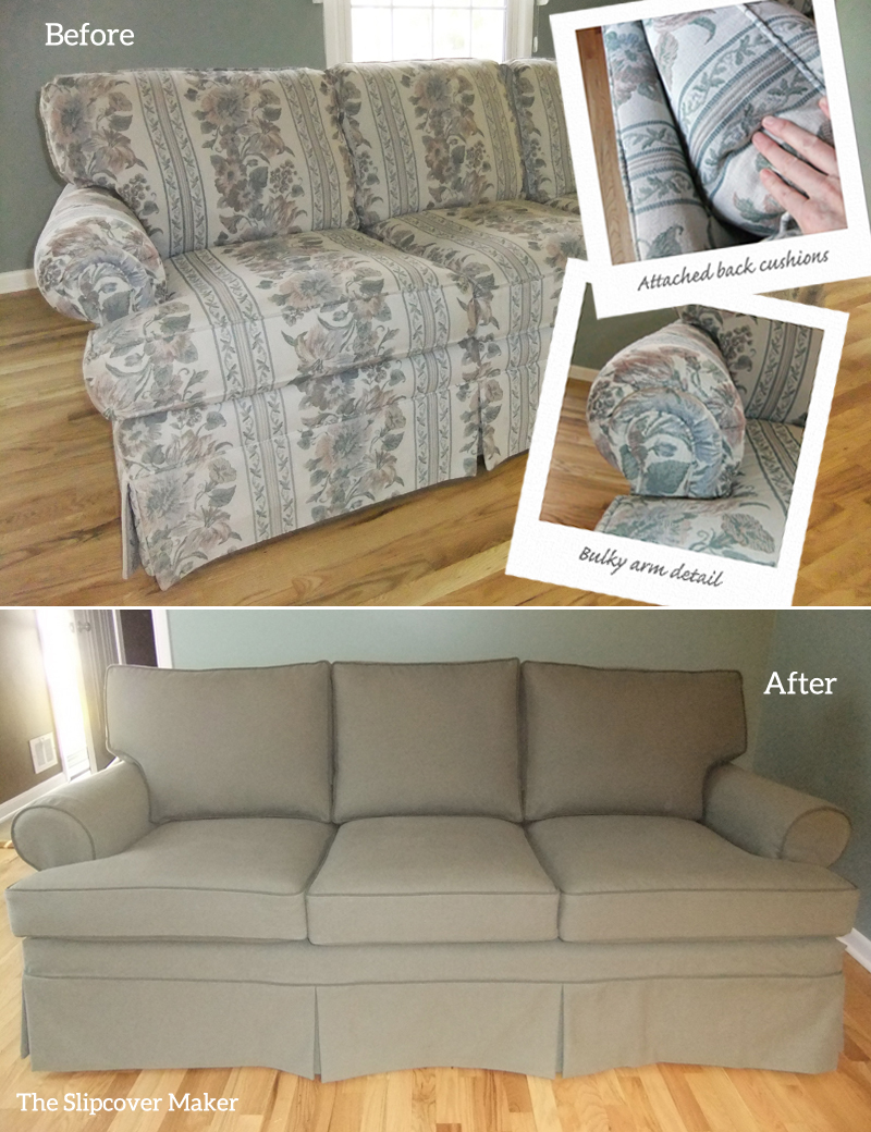 Casual slipcovers update formal ethan allen furniture the slipcover maker Denim couch and loveseat