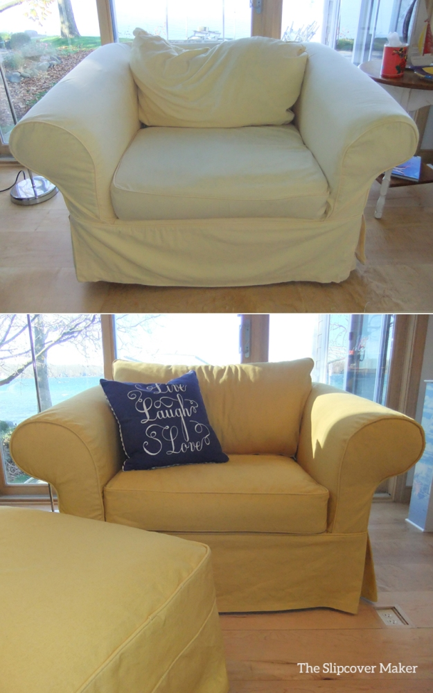 Eco Chic Yellow Denim Slipcover