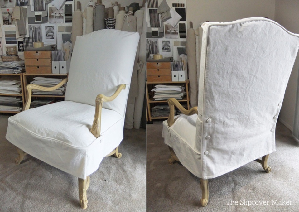 Natural Canvas Slipcover For French Chair The Slipcover