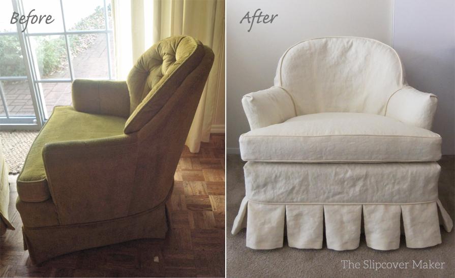 Hemp French Linen Chair Slipcover