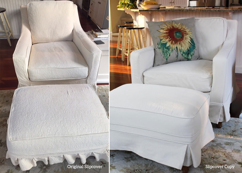Chair And Ottoman Slipcover Copy