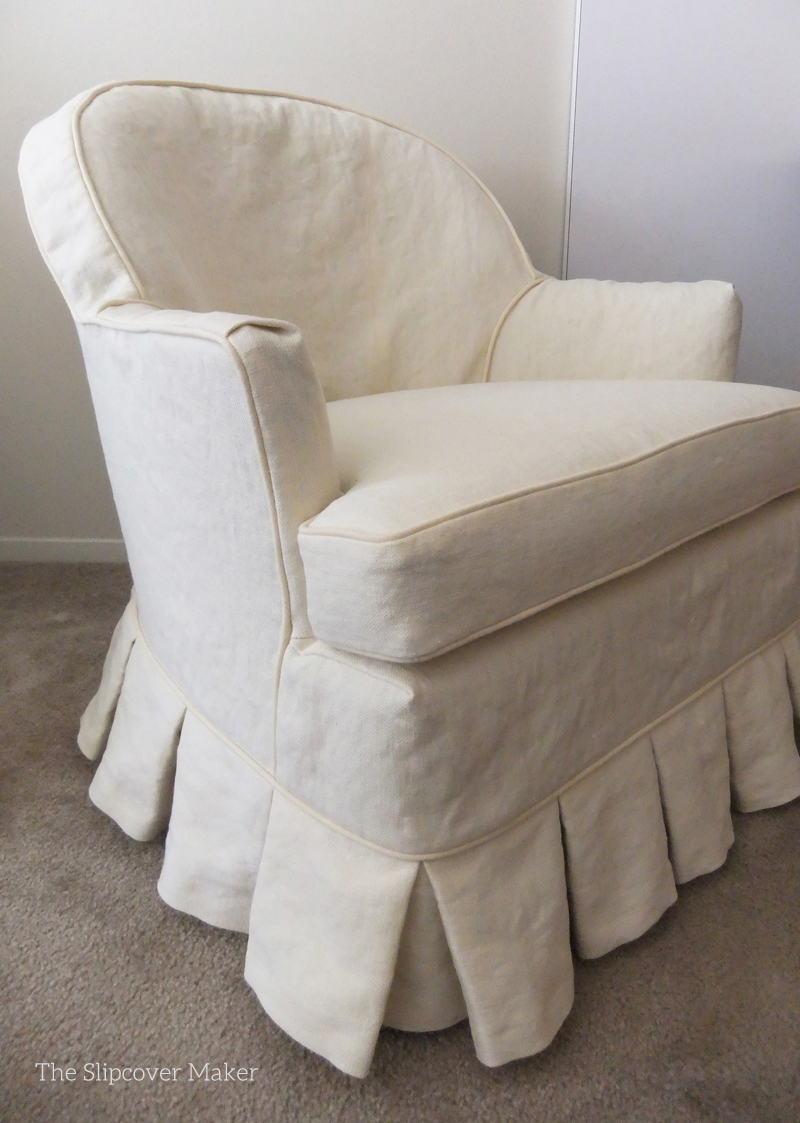 Merveilleux Chair Slipcover Hemp French Linen