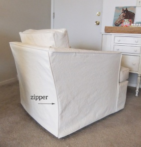 Slipcover with Zipper Opening