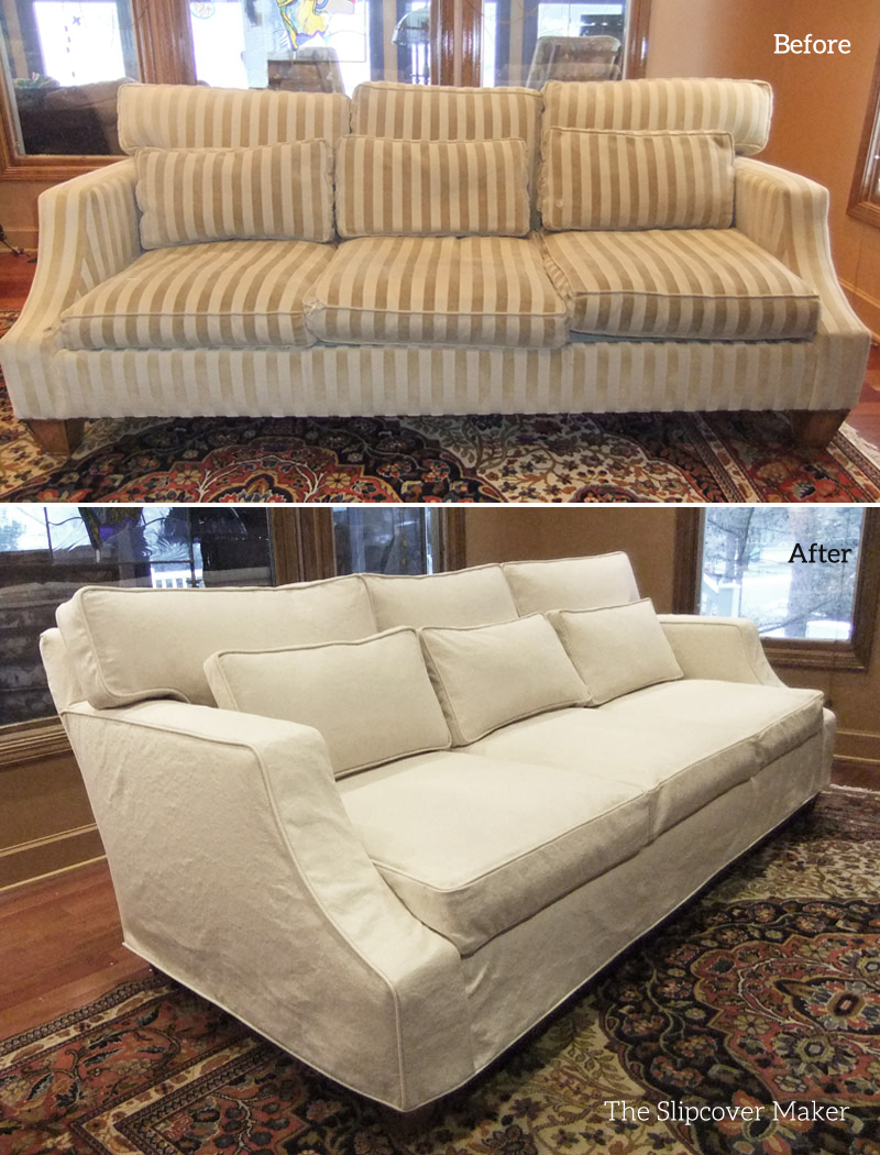 Sofa Covers Before After