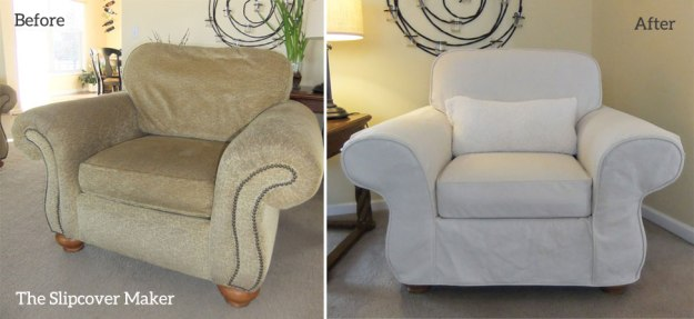 Natural Denim Slipcover for Flexsteel Chair