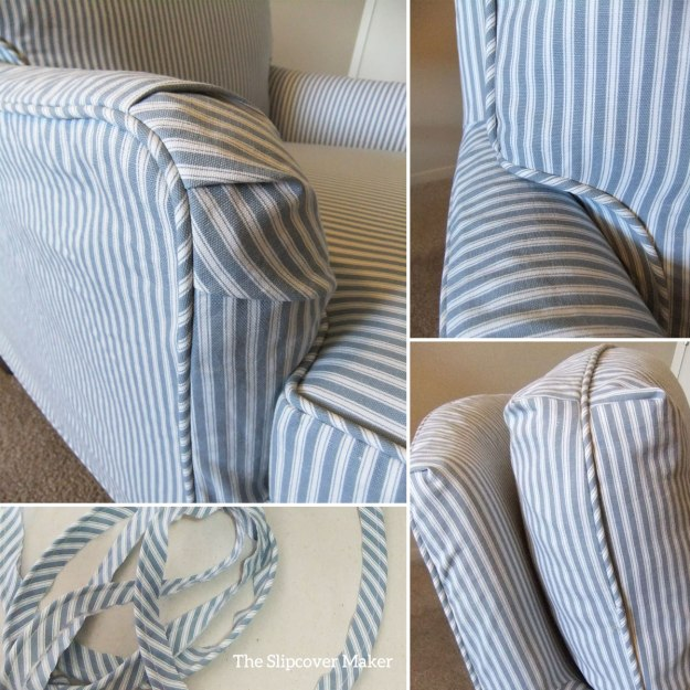 Printed Ticking Stripe Slipcover