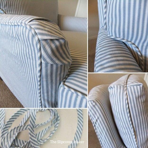 Printed Ticking Stripe Slipcover