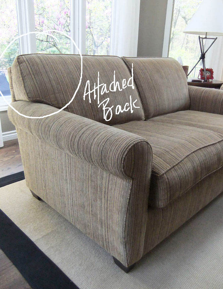 Loveseat With Attached Back Attached Back Cushions On A Sofa ...