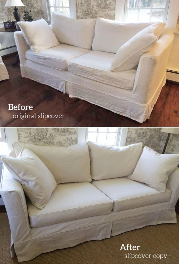 Natural Denim Slipcover for Mitchell Gould Sofa