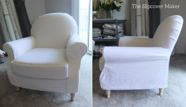 Light weight white denim slipcover