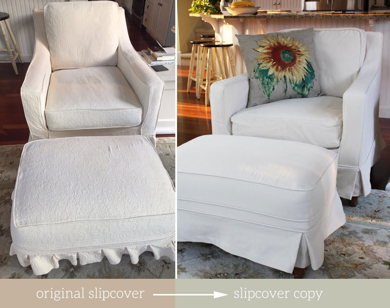 Replacement Slipcovers For Sofas And Armchairs. Chair Slipcover Replicates  At The Slipcover Maker
