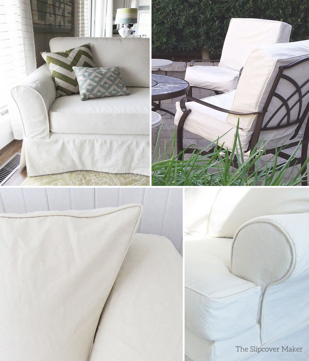 Slip covers slipcovers for sectional couches slipcovers for Chaise cushion slipcover