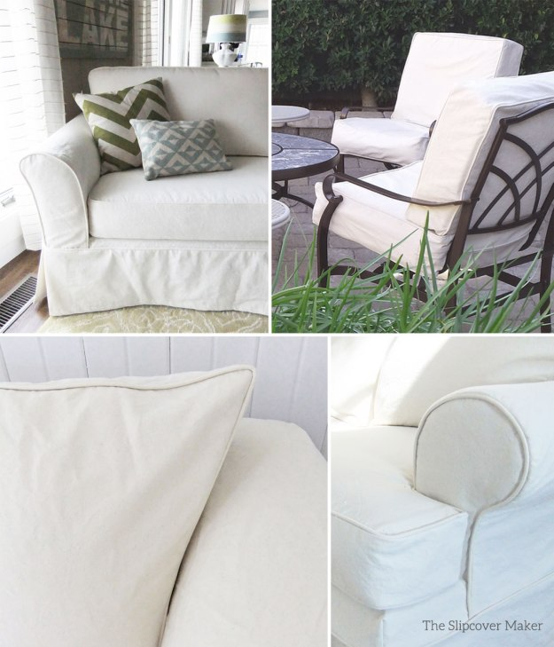 Summer Slipcovers in Natural Canvas