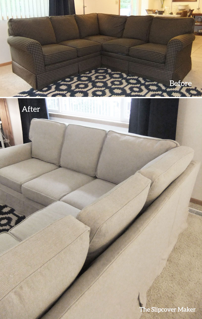 custom grey sectional shelley slipcover by img tweed slipcovers