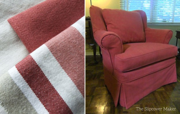 Chair Slipcover Cranberry Bayside Canvas