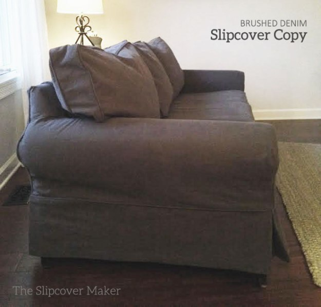 Beefy Brushed Charcoal Denim Slipcover
