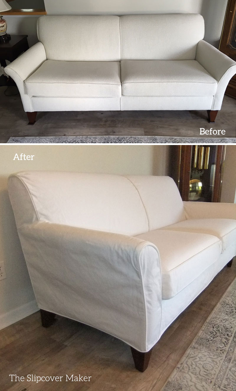 white slipcovers the slipcover maker. Black Bedroom Furniture Sets. Home Design Ideas