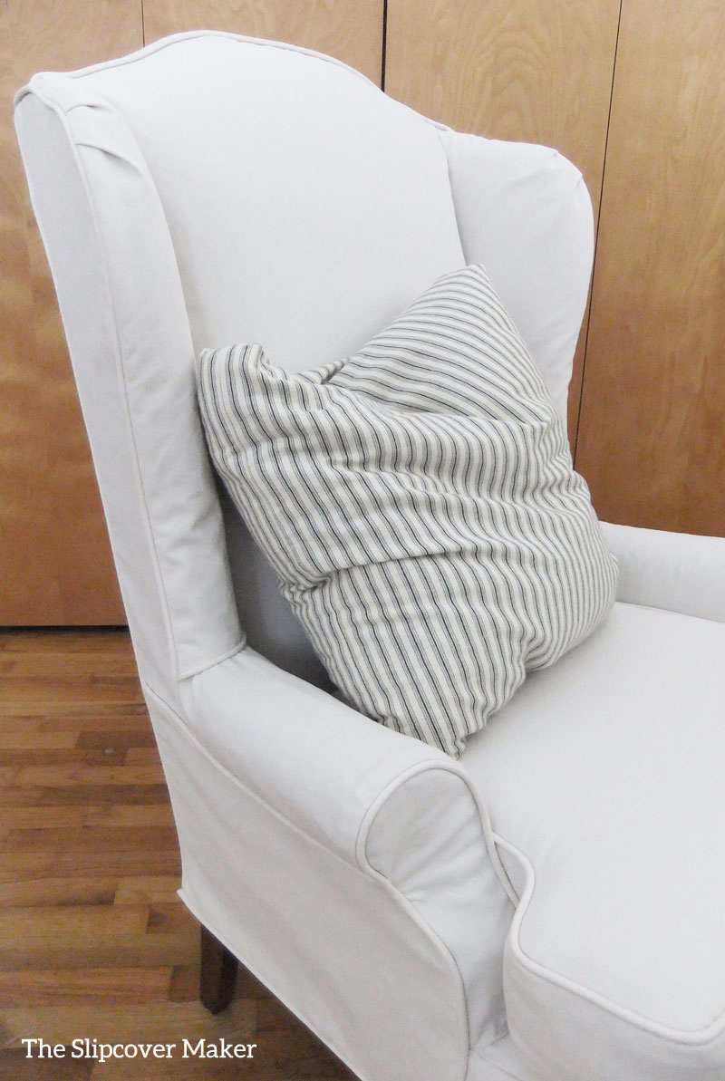 Delicieux Wingback Slipcover In Carr Go Canvas Natural
