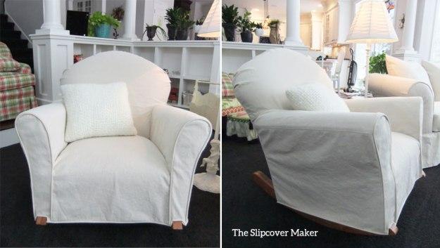Natural Denim Rocker Chair Slipcover