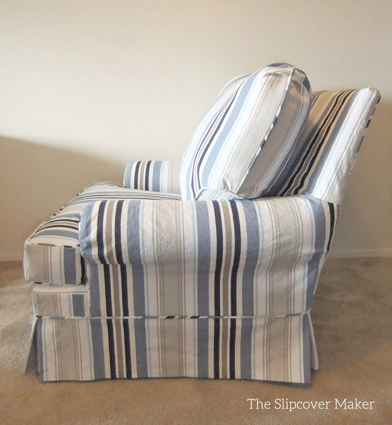Attractive Awning Stripe Chair Slipcover