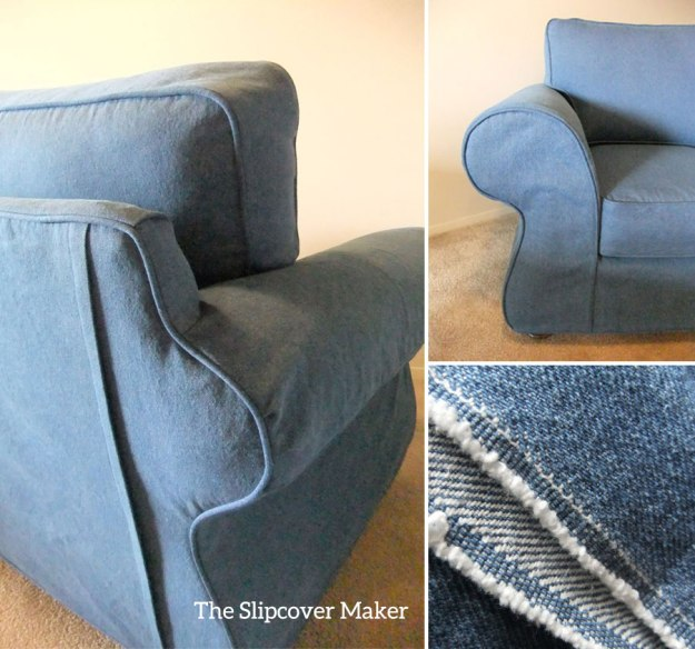 Indigo Blue Denim Slipcover