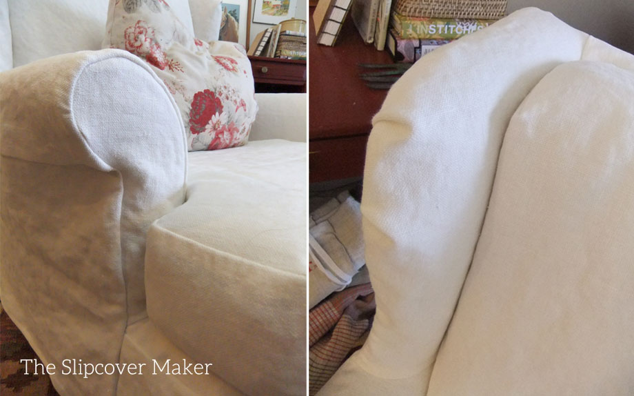 Superbe Loose Fit Linen Chair Slipcover