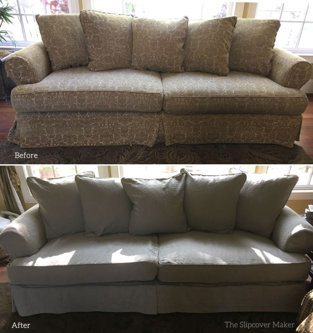 Sofa Slipcover Copy in Natural Linen
