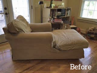 Worn and Faded Chaise Slipcover
