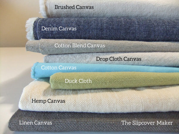 Canvas Fabric Options for Slipcovers