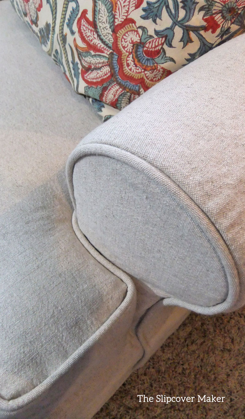 Slipcover fabric by the yard - Linen Cotton Chair Slipcover