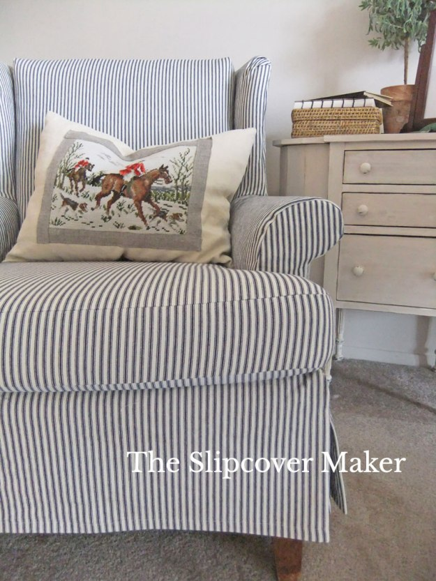 The-Slipcover-Maker-Ticking-Wingback