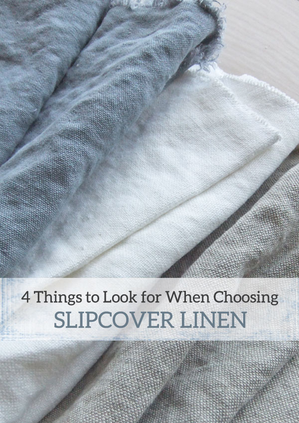 How to choose linen for slipcovers