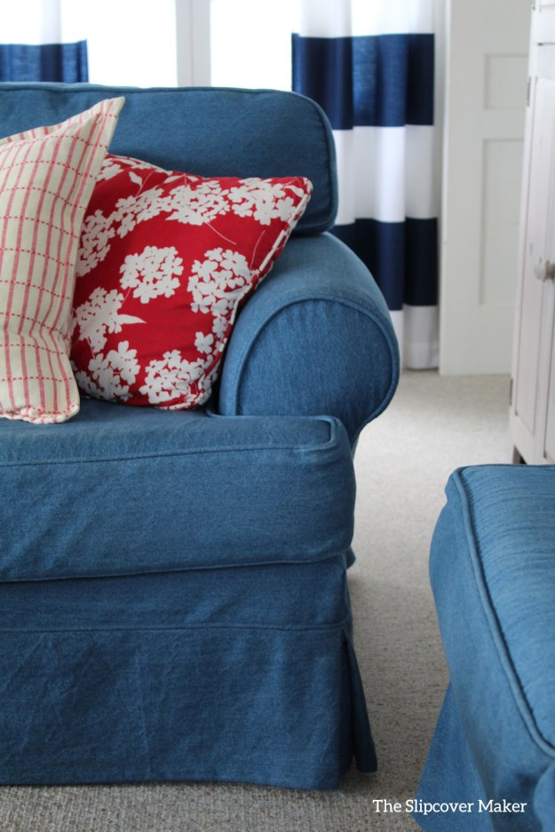 Classic Indigo Denim Love Seat Slipcover