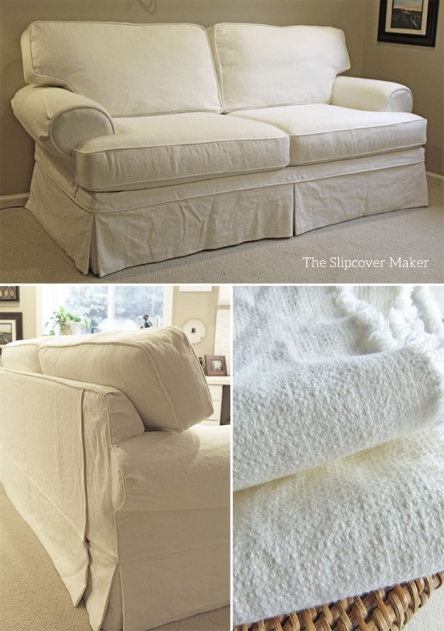 Linen Cotton Textured Slipcover