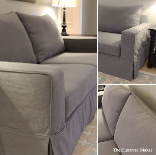 Custom Slipcover Pottery Barn Sofa Grey Canvas