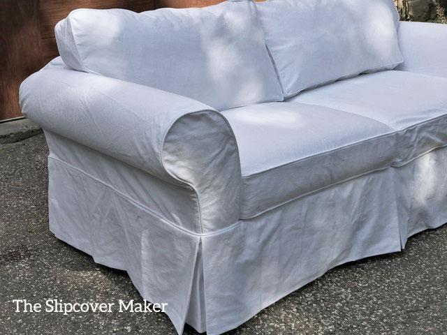 Brilliant Philips White Denim Sofa Slipcover The Slipcover Maker Creativecarmelina Interior Chair Design Creativecarmelinacom