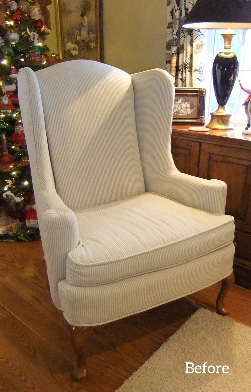 Judyu0027s Buffalo Check Slipcover And Wing Back Chair Are A Match Made In Home  Decor Heaven!