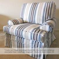 Bridgewater Stripe Slipcover