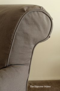 Brown Denim Slipcover Detail