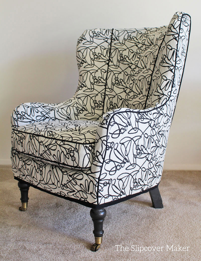 Artful Slipcover For Arhaus Wing Chair
