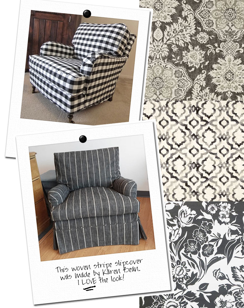 Black And White Slipcovers