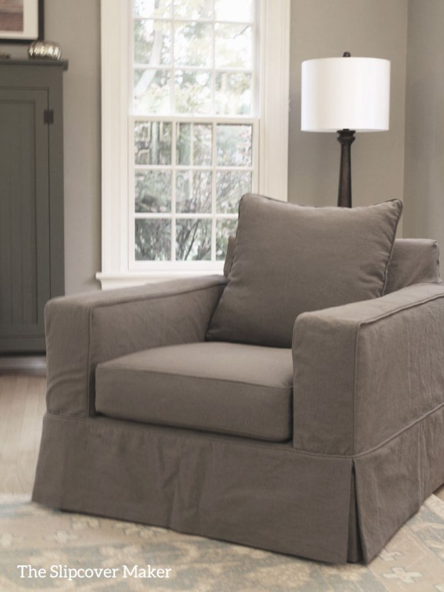 Pottery Barn Slipcover Copy in Grey Canvas