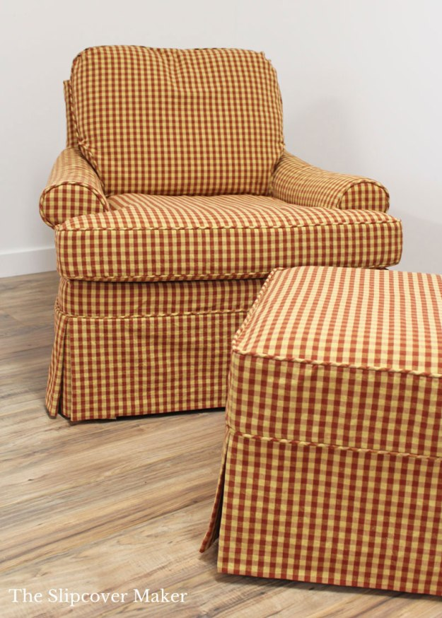 Roth Tompkins Gingham Slipcover Sienna