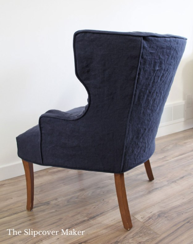 Channel Back Chair Slipcover