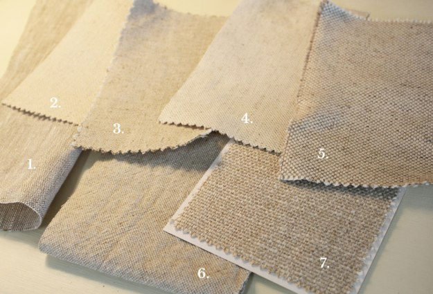 Cotton Linen Oatmeal Home Decor Fabrics