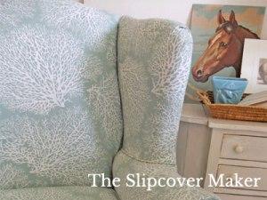 Magnolia Ariel Coral Print for Slipcover