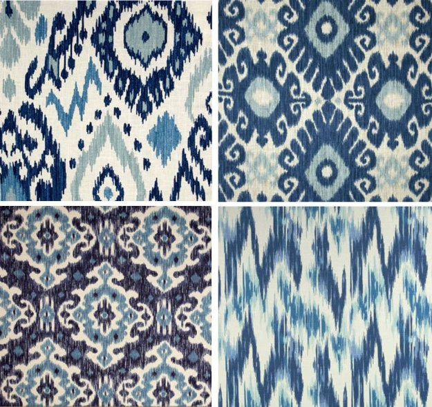 Slipcover Cotton Ikat Prints