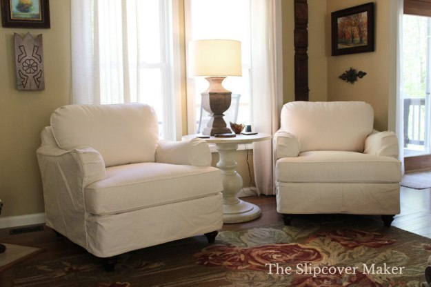 Custom Chair Slipcovers Natural Denim