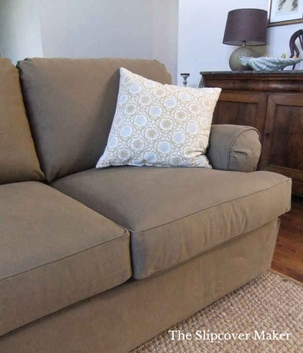 Burlap Brown Custom Denim Slipcover