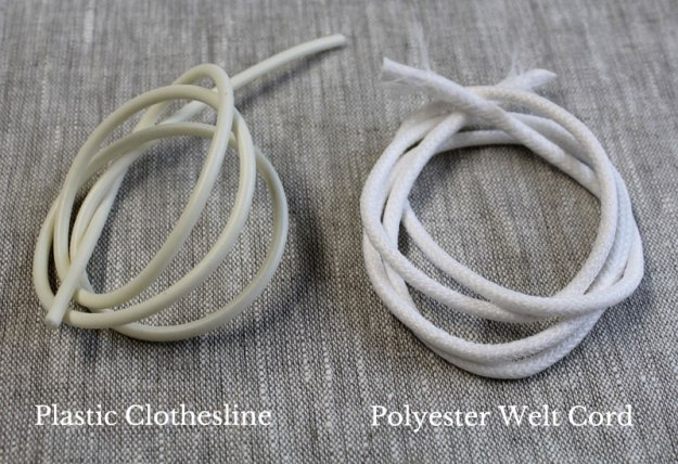 Poly Welt Cord vs Plastic Clothesline